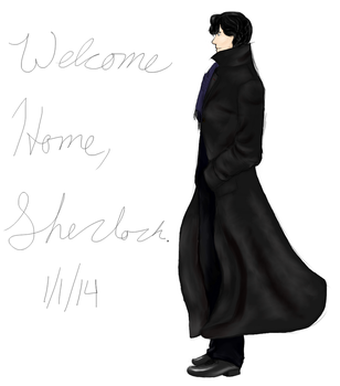 Welcome home, Sherlock by Angellbaby