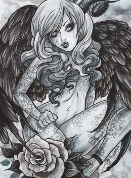 Fallen angel three by glittersniffer