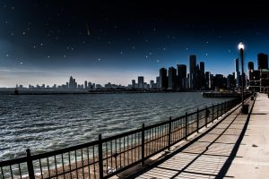 Chicago fake night by RichBerg