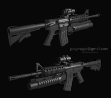 M4 sopmod highres mesh by limiao