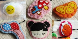 felt hair clips for sale by hellohappycrafts