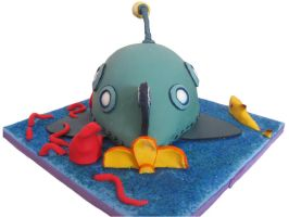 Octonauts cake- back view by Unfairytales