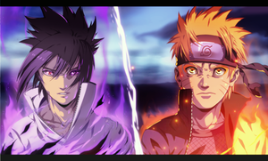 [C] Naruto Vs Sasuke by TheSaigo