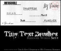 Tiny Text Brushes Set 8 by NemesisDivina666