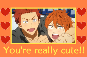 Free! Valentine: Mikoshibros think you're cute! by FrozenClaws