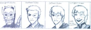 Many faces of Zuko by Doodle-Master