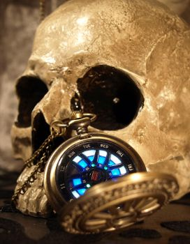 LED digital watch in a wheel design pocketwatch by ScatterbrainEmp