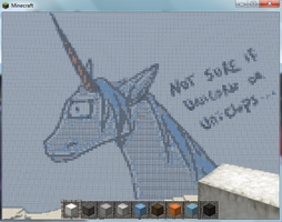 Unicorn Vs. Uniclops Minecraft Creation by Pat-The-Kitsune