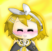 Rin Kagamine by xxthecatluverxx