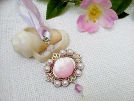 Pink silver necklace by Mirtus63