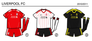 Liverpool 2010-2011 kits by miicho