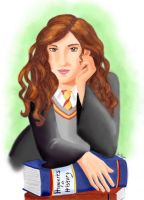 Bookworm Hermione by AgiVega