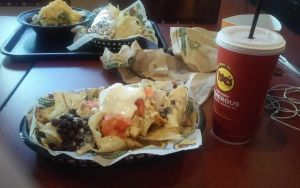 Moes Nacho with a Drink by iza200117