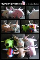 Flying Pig Plushies by pookat