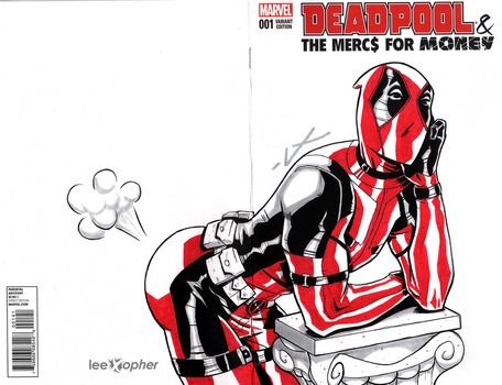 Deadpool Sketch Cover by leexopher