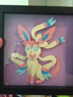 sylveon shadow box by mylittlezombie