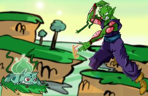 Piccolo vs Bulbasaur by bwingbwing