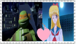TMNTxSM Couples Stamp: MikeyxMina/Venus by KessieLou