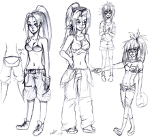 Character Design Sketches by ECILA-ALICE