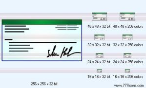 Cheque Icon by money-icons