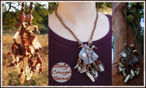 Autumn Roots Stone/Macrame Necklace by BellyLaughBeads