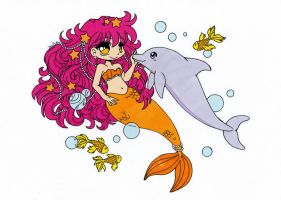 Under The Sea Colored by Maiko-Girl