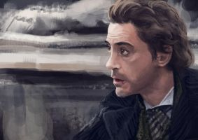 Robert Downey jr. as Sherlock by Rochnan