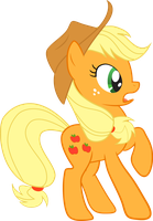 Startled Applejack [Vector] by killjoy1221