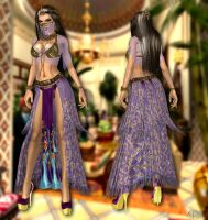 Lara arabian dress DL (update) by ZayrCroft