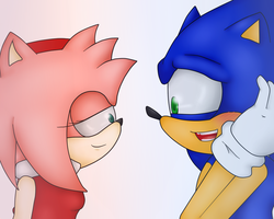 You Like Me Don't You Sonic by sonamy-4eva