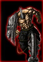 Baal the armored god colored by Osmar-Shotgun
