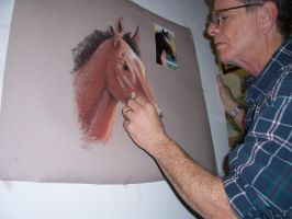 me drawing a horse by TomKilbane