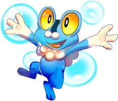 New pokemon Froakie by Pand-ASS