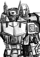 Shockwave and Megatron by Naihaan
