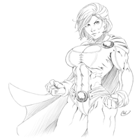 Powergirl ink by ZigEnfruke