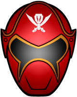 PRSM Red Ranger Mask by KalEl7
