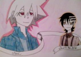 Soul and Death the Kid by MoffAnimeTeeny