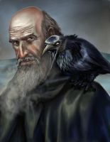 Mormont and his Raven by VVjonez
