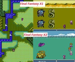(Nes bootleg game) Final Fantasy X1/2 by Arshes91