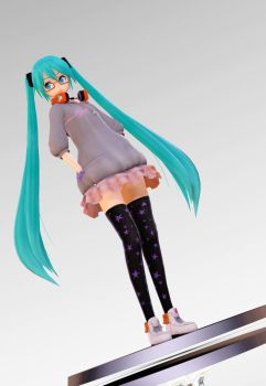 MMD Hatsune Miku Out and About Figure by dendewa