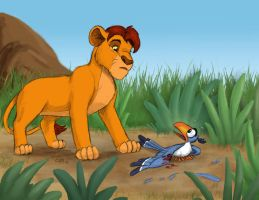 Mufasa Meets Zazu by chill13