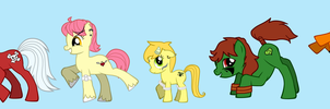 Tropic Mews Ponies by LovelyKouga