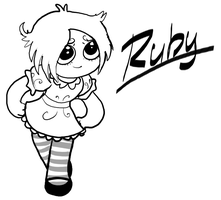 Ruby Gloom Sketch by AtomicTiki