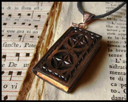 ENCHANTED MINI BOOK PENDANT (UPDATE) by MassoGeppetto