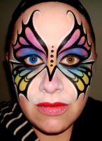 Rainbow Butterfly Madness by thepinupgirl