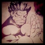 Shin Akuma ink wip by joverine