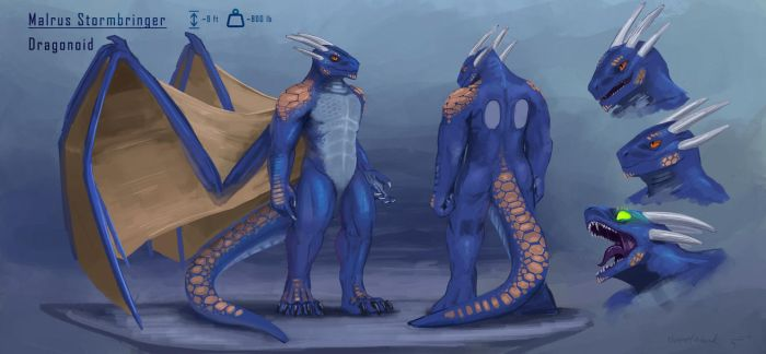 Malrus reference sheet (commission) by ThemeFinland