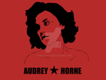 Audrey Horne in a Che style by by twin-peaks