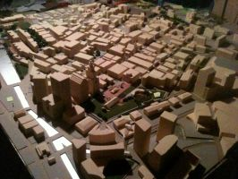 Architecture Model of Providence RI by markroderick