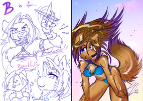 COM: Babe Wolf Doodlies by carnival